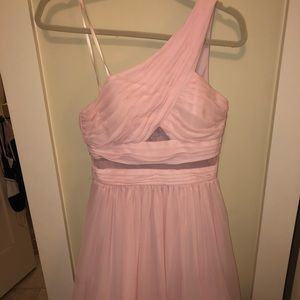 PromGirl pink one shoulder dress
